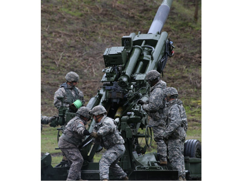 The M777 is used by US Marine Corps and the US Army as their next-generation medium-force weapon. Credit: Washington Military Dept.