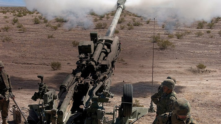 M777 matches the firepower of current generation 155mm towed systems at less than half the weight. Credit: BAE Systems.