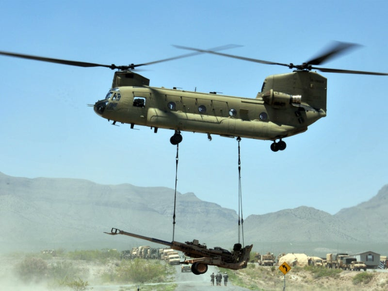 The howitzer can be transported by helicopter, transporter aircraft and ship. Credit: US Army.