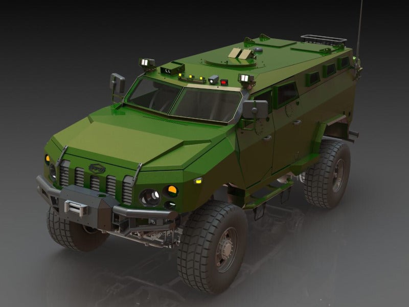KAMRAT is a 4x4 armoured personal carrier under development. Image courtesy of Ukrainian Armor LLC.