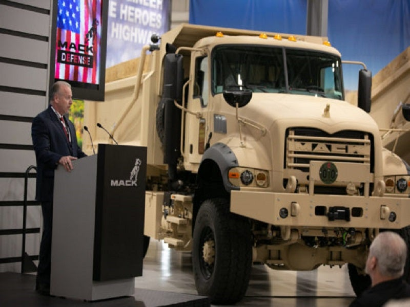 Mack handed over the first five M917A3 heavy dump trucks to the US Army in June 2019. Image courtesy of Mack Trucks, Inc.