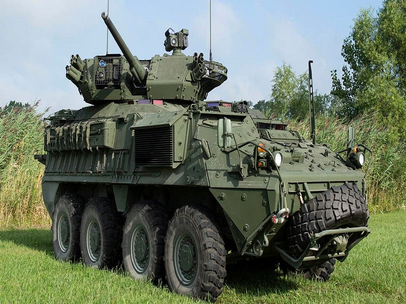 Stryker is a family of eight-wheel-drive combat vehicles manufactured by General Dynamics Land Systems. Image courtesy of General Dynamics Corporation.