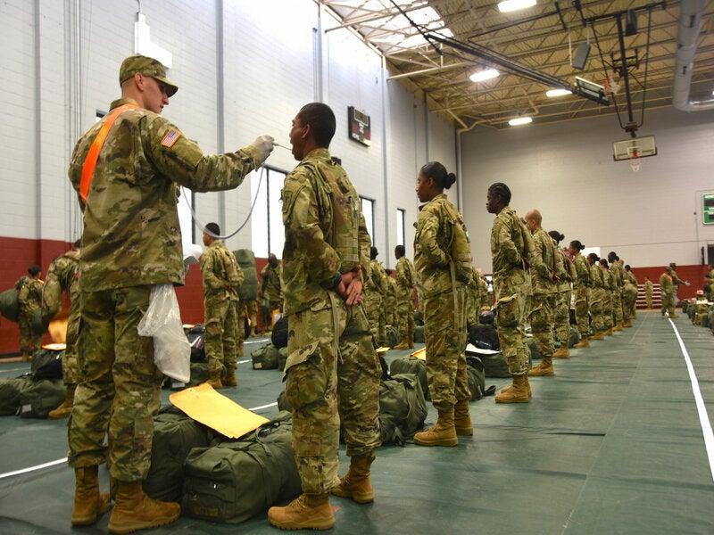 Army training Covid-19