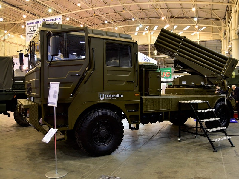 BM-21UM Berest multiple rocket launch system (MRLS) was developed by Shepetovskyi Repair Plant (ShRP). Credit: UkrObronProm.