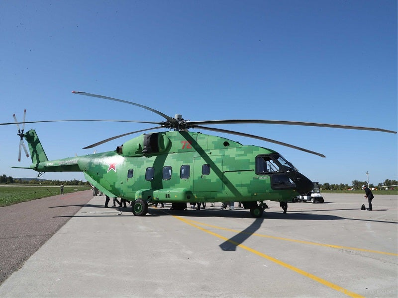 Mi-38T multi-mission military helicopter is being manufactured by Kazan Helicopter Plant.