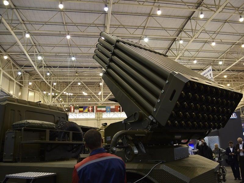 The BM-21UM Berest MRLS carries  50 ready-to-fire rockets. Credit: UkrObronProm.