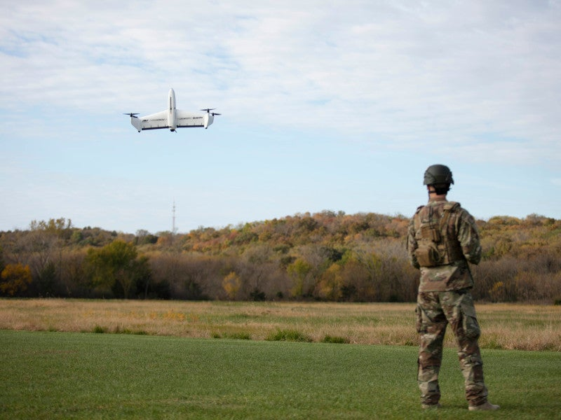 The UAS has a maximum range of 20km. Image courtesy of AeroVironment, Inc.