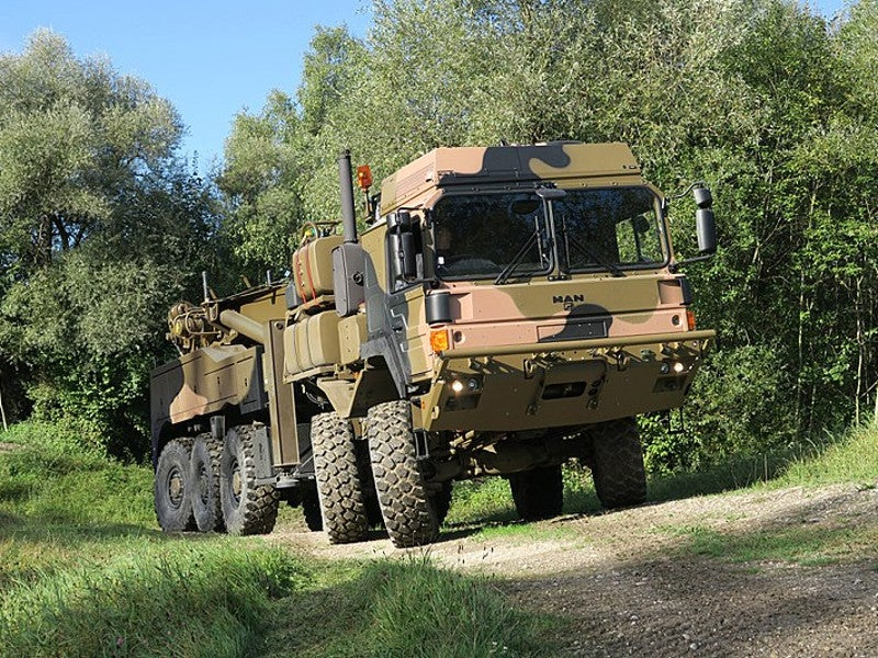 HX family vehicles are based on the civilian TGA series. Image courtesy of Rheinmetall Defence.