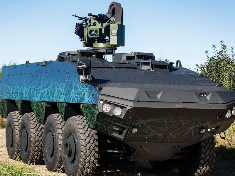 Patria AMVXP is a robust armoured modular vehicle developed by Patria Vehicles. Image courtesy of Patria.