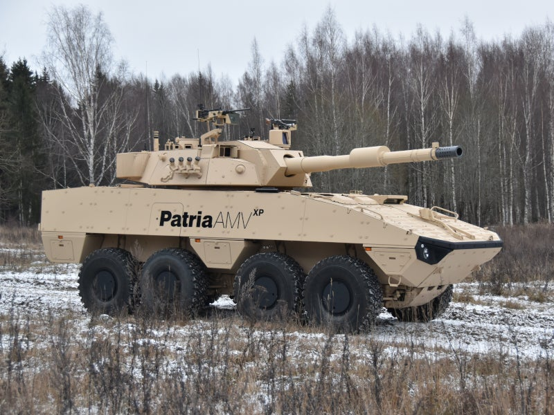 The Patria AMVXP vehicle can also be operated in arctic conditions. Image courtesy of Patria.