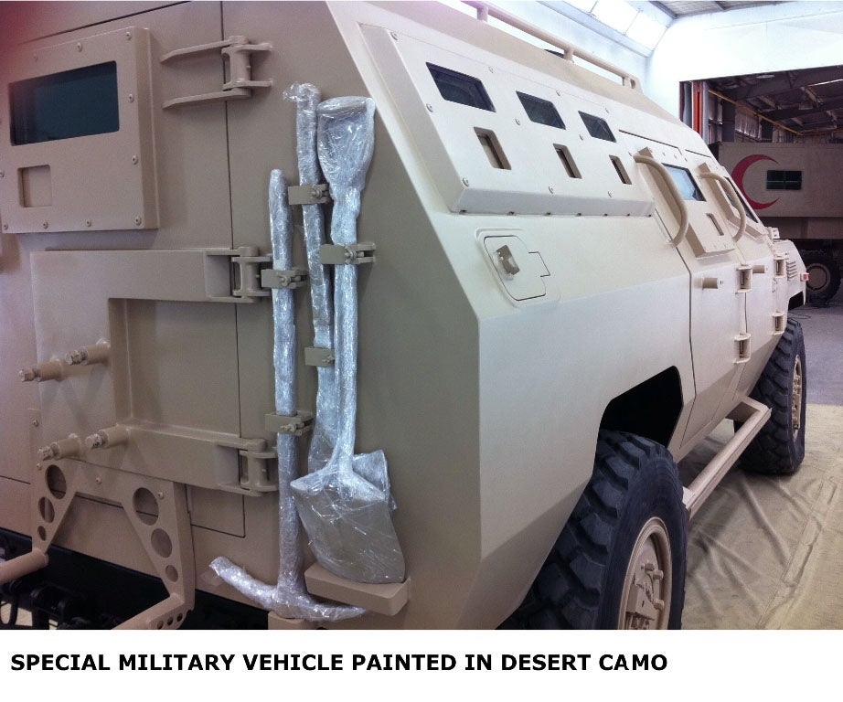 Intermat painted Special vehicle