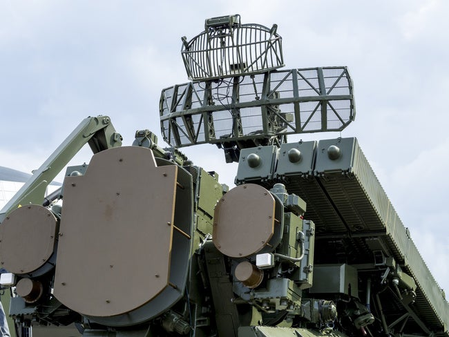 Anti-aircraft missile system. Air Defense. Military equipment.