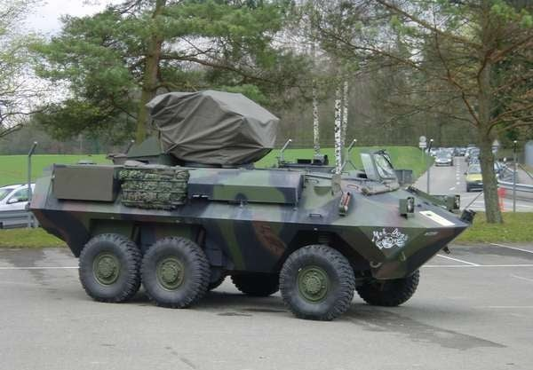 A PIRANHA 6x6 equipped with EMP protection from Meteolabor.