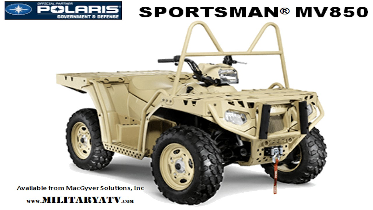 Image 1- Polaris MV850 ATV