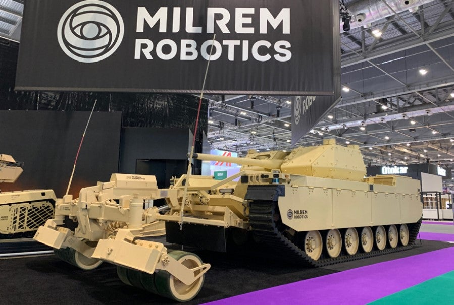 Pearson and Milrem showcase Type-X RCV with self-protection roller at DSEI