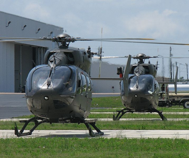 US Army National Guard's UH-72A Lakota light utility helicopters