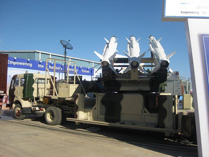 Akash medium-range, surface-to-air anti-aircraft missile