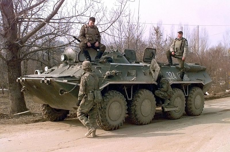 Russian BTR-80 wheeled armoured vehicles