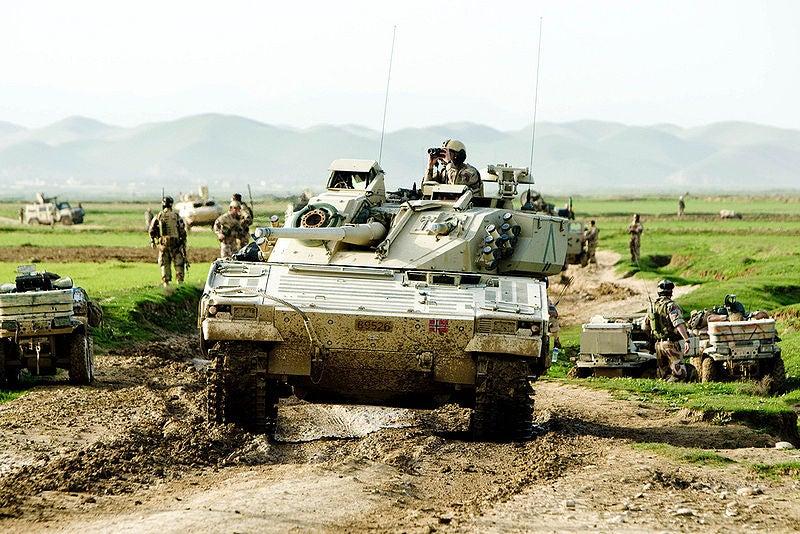 Norwegian CV90 vehicle