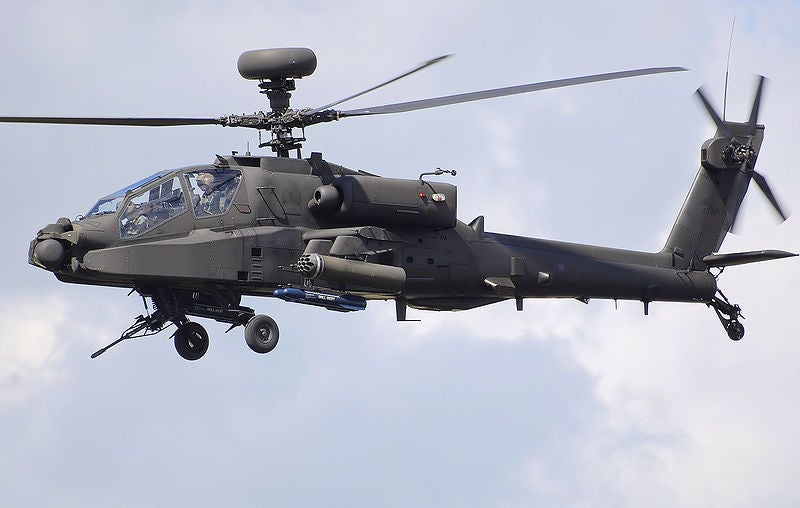 UK Army Air Corps Apache helicopter