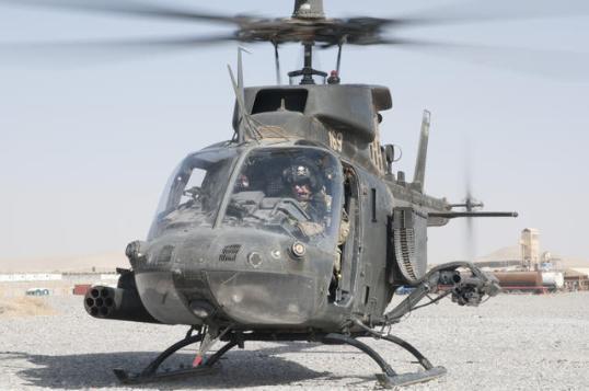 A U.S. Army OH-58D Kiowa helicopter
