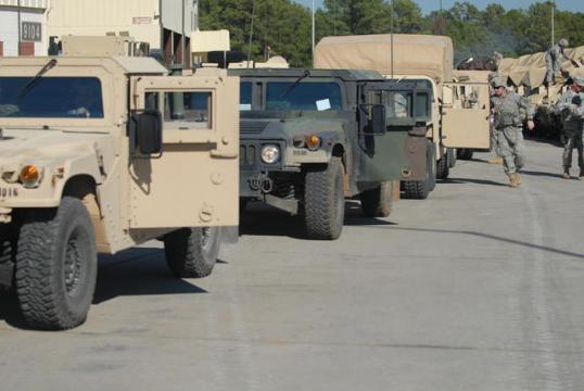 Army wheeld vehicles