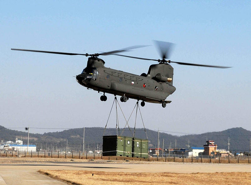 US Army's CH-47 Chinook helicopter