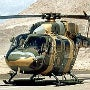 The helicopter has a twin-engine configuration allowing continued flight