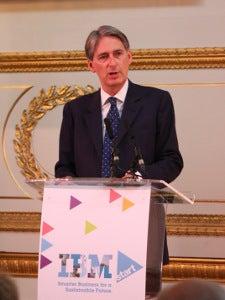 British Defence Secretary Philip Hammond