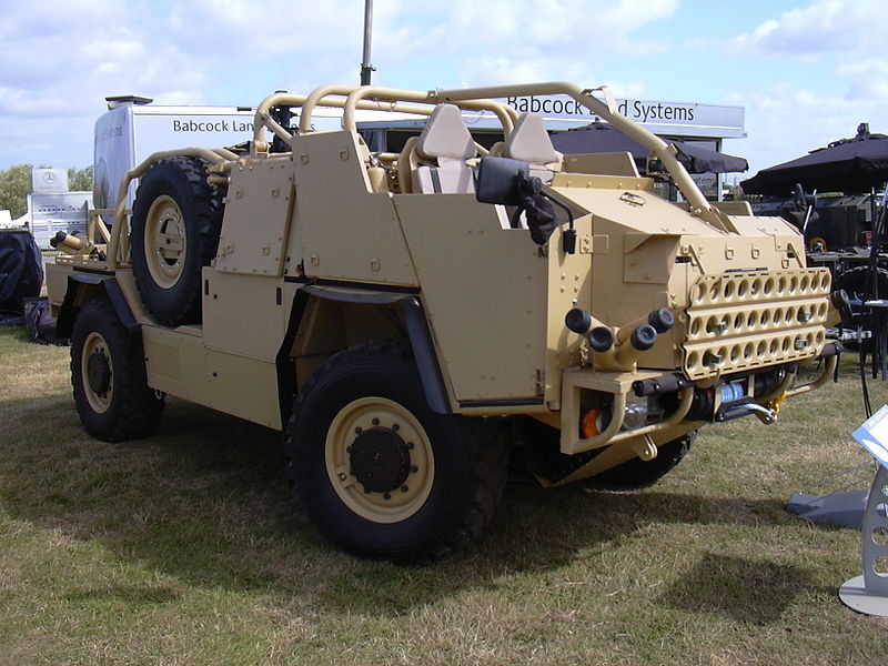 UK Army's Jackal vehicle