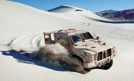 L-ATV combat tactical vehicle.