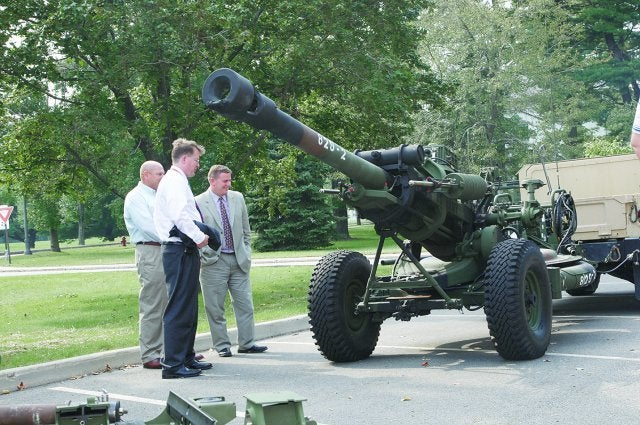 US Army digitised M119A2 howitzer
