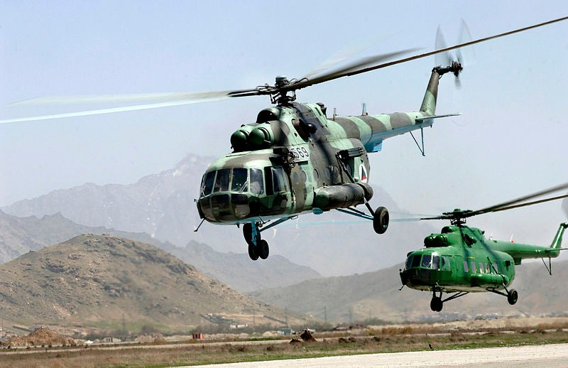 Mi-17V-5 helicopters