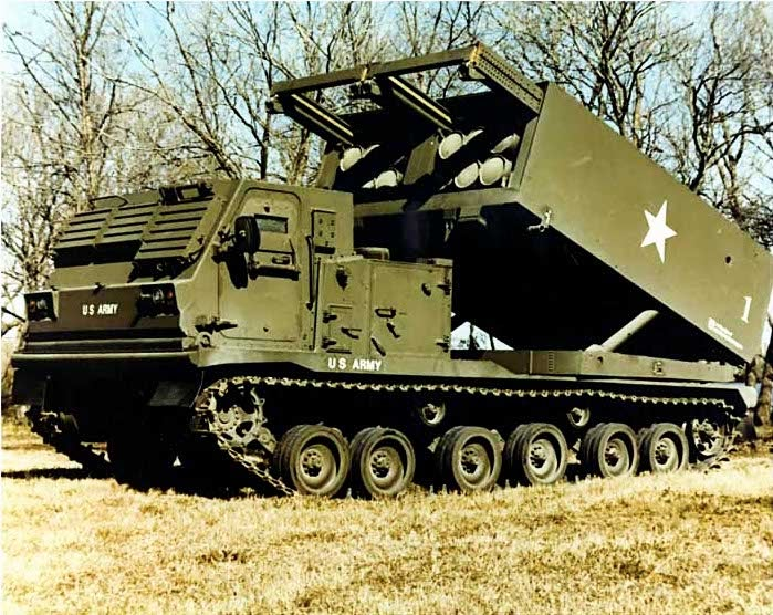 MLRS launcher