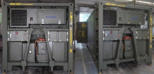 Klinge Corporation, the specialist manufacturer of transport refrigeration equipment, has completed acceptance testing of their military refrigerated A-frame container systems at a state-of-the-art test facility in the US.
