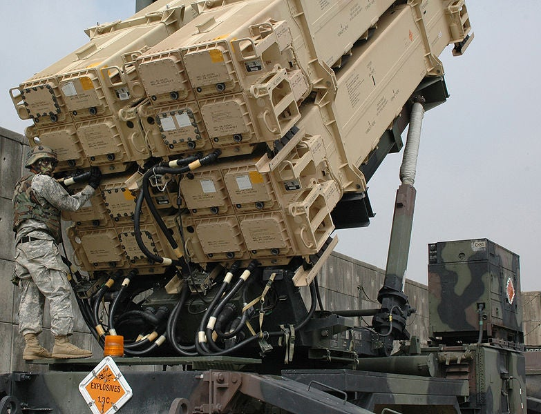 PAC-3 MSE missile launcher