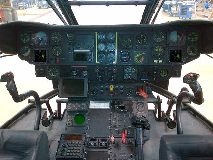 Puma helicopter cockpit