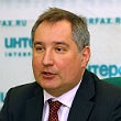 Russian Deputy Prime Minister Dmitry Rogozin during a press conference in Moscow.