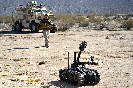 The long-term goal is to equip military robots with greater levels of on-board decision-making capabilities