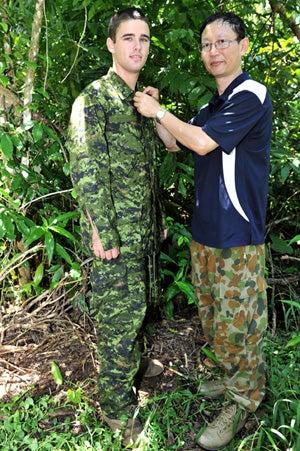 Nato's camouflage uniform