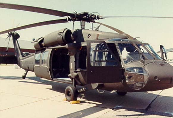 US Army's UH-60A Black Hawk helicopter