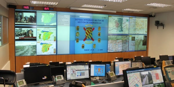 The UME Joint Operations Centre, Torrejon de Ardoz Air Base, Spain.