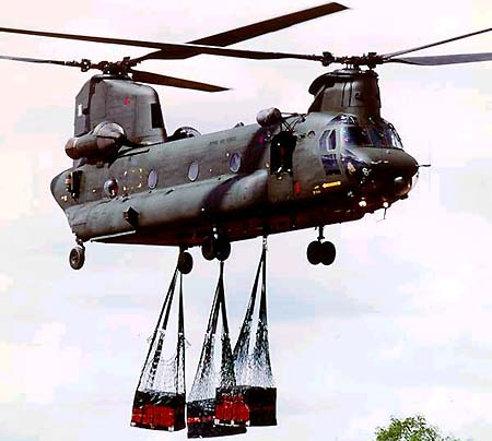 Australian Army CH-47D Chinook transport helicopter