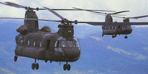 Boeing CH-47 Chinook helicopters