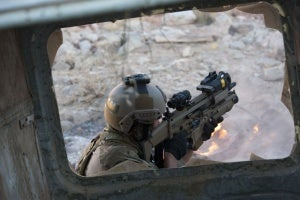 FN SCAR assault rifle with grenade launcher