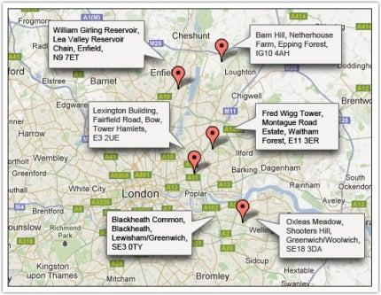 London 2012 missile sites