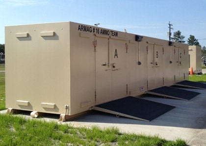 Armag manufactured a custom magazine with two physically separate storage areas in a single unit.