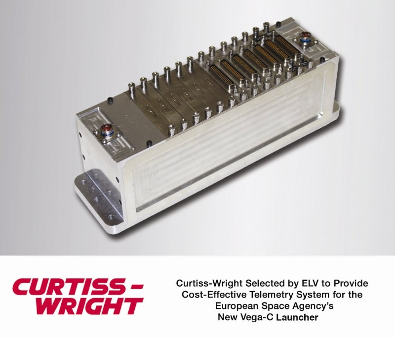 Curtiss-Wright selected by ELV to provide telemetry system for European space agency's new vega-c launcher