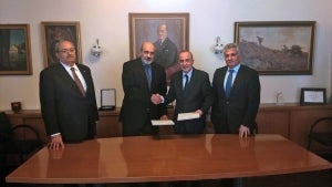 Signing of strategic cooperation agreement HDS and IDE