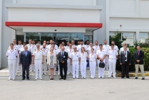 Hellenic navy staff and command college visit IDE